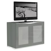 Munari MO101BI TV Stand White Glass