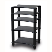 Solid-Tech Radius Solo 5 Black corner-pillars Oak