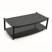 Atacama Audio Equinox 2 Shelf Base Module AV Satin Black / Arctic Frost Glass