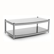 Atacama Audio Equinox 2 Shelf Base Module AV Diamond White/Arctic Frost Glass