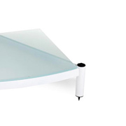 Atacama Audio Equinox Single Shelf Module AV Diamond White/Arctic Frost Glass