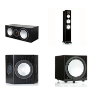 Monitor Audio Silver 8, Silver Centre, Silver FX, Silver W12 Black Oak