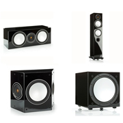 Monitor Audio Silver 6, Silver Centre, Silver FX, Silver W12 High Gloss Black