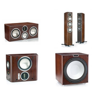 Monitor Audio GX200, GXC350, GXFX, GXW-15  Dark Walnut