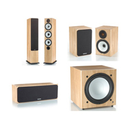 Monitor Audio BX6, BX Centre, BX1, BXW-10 Natural Oak