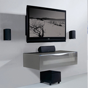 Munari MO109NE TV Stand Black Glass