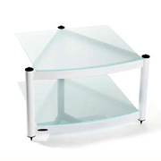 Atacama Audio Equinox RS2 Shelf Base Module Hi-Fi Diamond White/Arctic Frost Glass