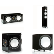 Monitor Audio Silver 8, Silver Centre, Silver FX, Silver W12 High Gloss Black