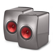 KEF LS50 Wireless Titanium Grey/ Red
